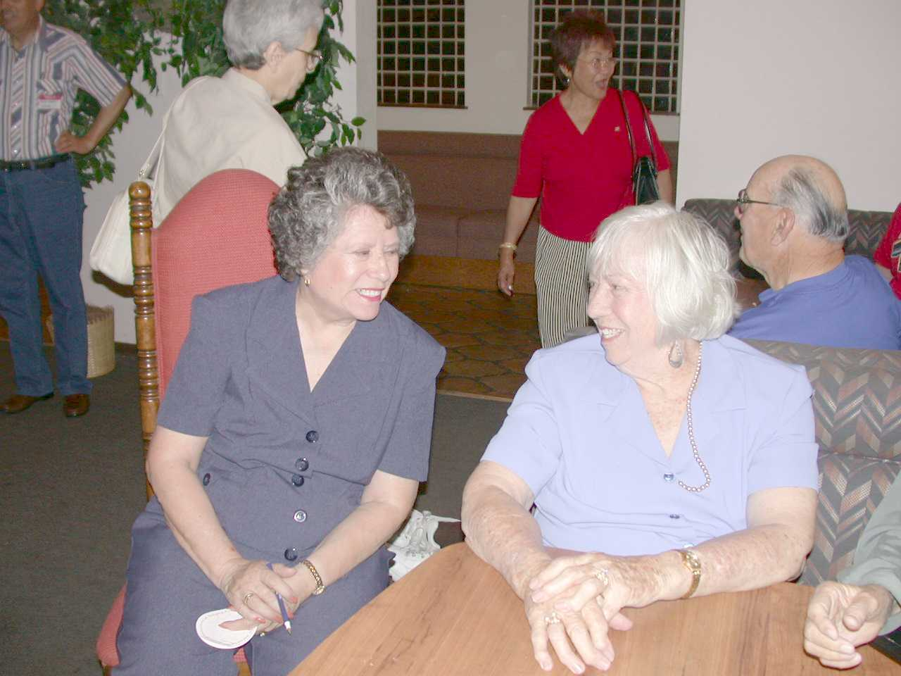 "Martha G. Brown Gardner with ""sister"" Mary Green June 14, 2003"