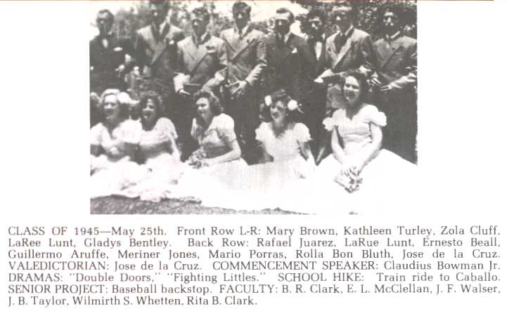 JSA Class of 1945 - Mary Brown graduation