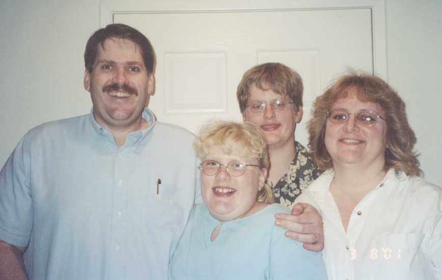 Mickey and Connie with their children in 2001