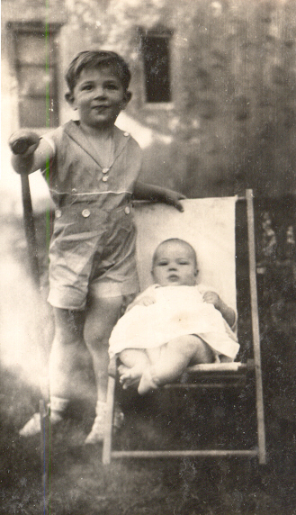 J. Duncan and his sister, Beverly, 1935