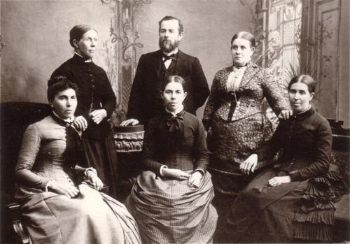 Lavinia Mitchell and her siblings c.1852